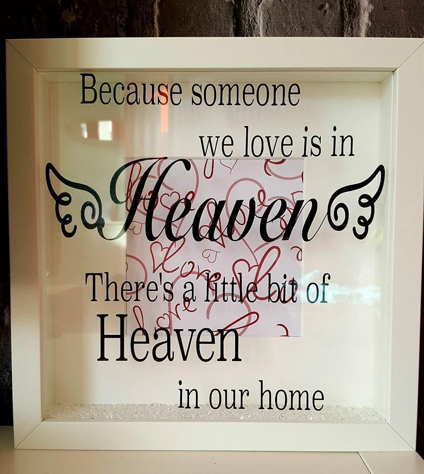 Memorial Frame Because Someone We Love Is In Heaven Theres A